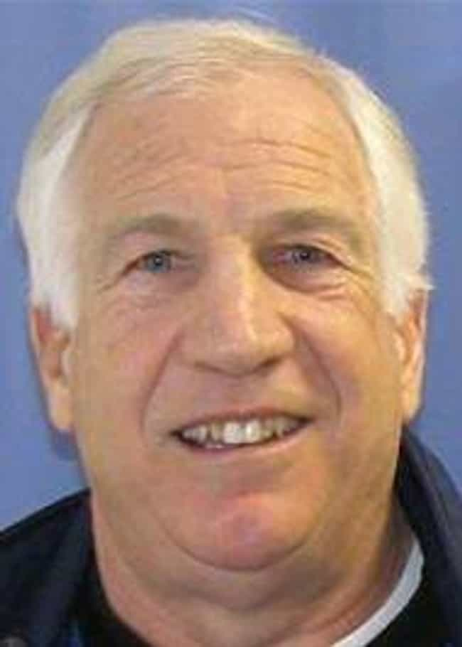 Jerry Sandusky is listed (or ranked) 3 on the list 19 People You May Not Realize Are Registered Sex Offenders