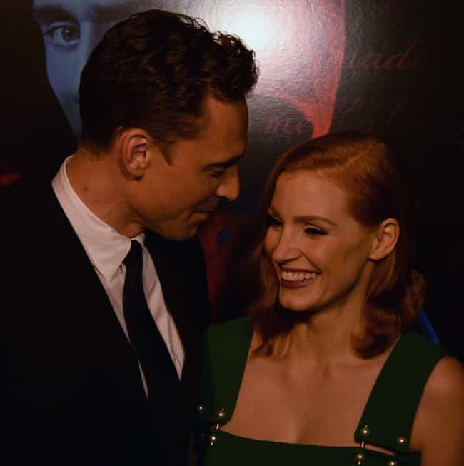 Tom Hiddleston is listed (or ranked) 2 on the list Jessica Chastain Loves and Hookups