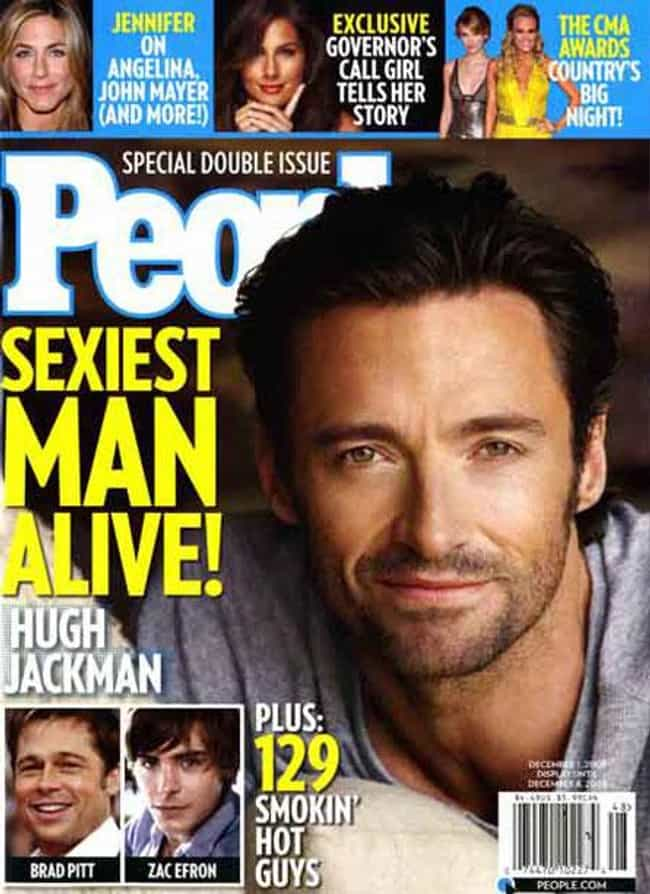 Hugh Jackman is listed (or ranked) 3 on the list All People's Sexiest Man Alive Covers, Ranked By Current Sexiness Standards