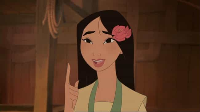 Mulan is listed (or ranked) 2 on the list The Best Fictional Characters Who Never Give Up