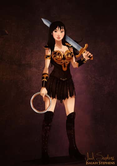 Mulan Channels Her Inner Xena Warrior Princess With This Costume