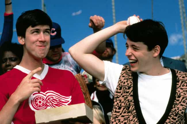 Ferris Bueller's Day Off is listed (or ranked) 2 on the list Great Movies Where The Hero Doesn't Change Or Grow At All