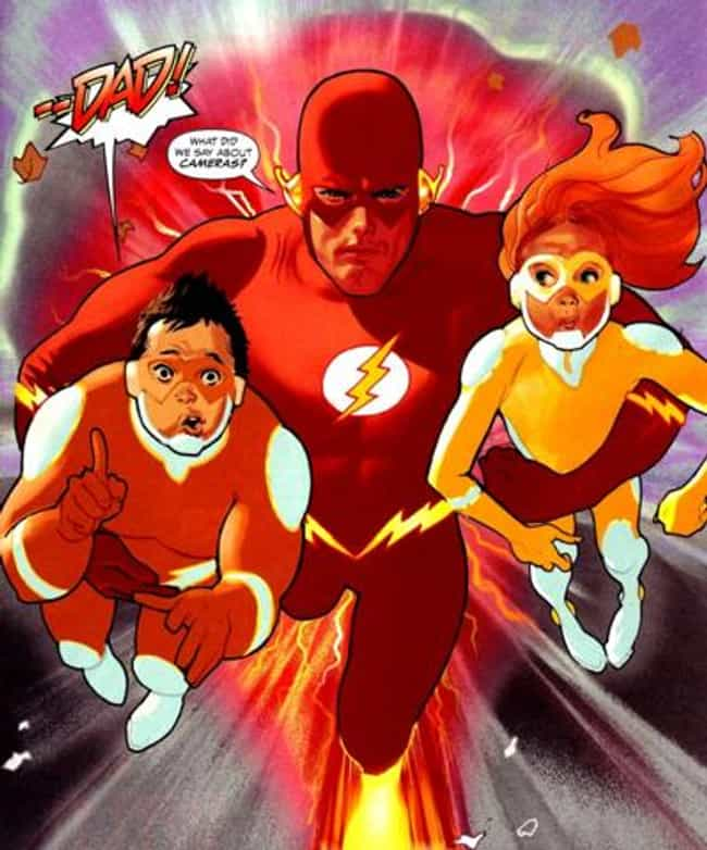Flash is listed (or ranked) 3 on the list Superheroes with Children