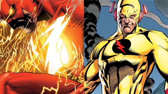 Flash is listed (or ranked) 3 on the list The Best Superheroes With Evil Doppelgangers
