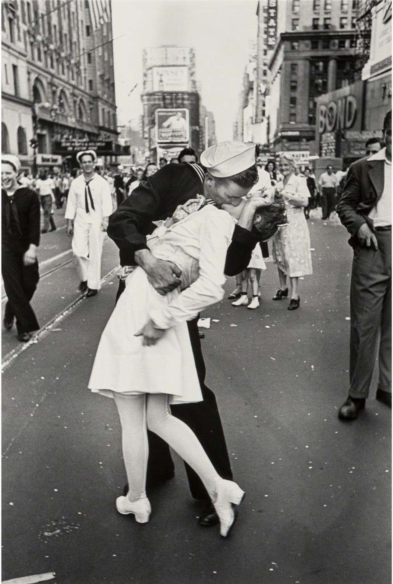 Sailor Kissing Nurse is listed (or ranked) 3 on the list The Most Iconic and Influential Works of Art
