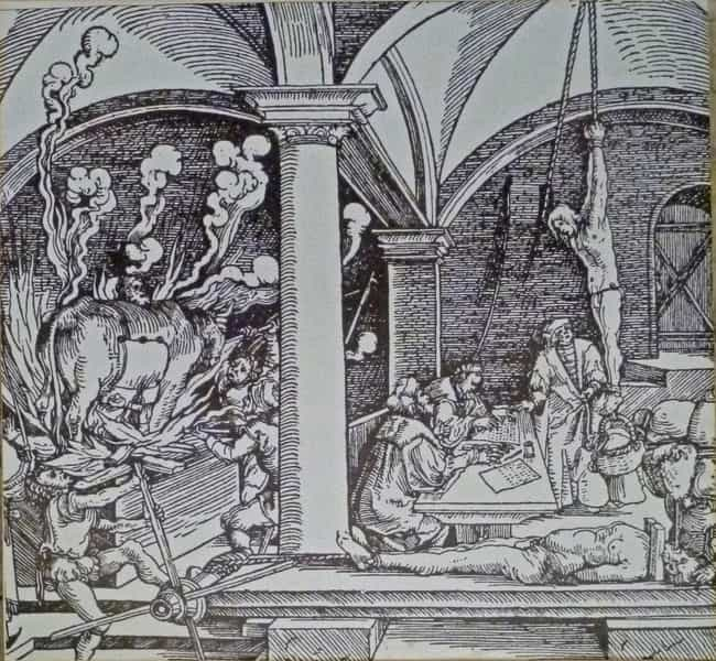 The Brazen Bull is listed (or ranked) 4 on the list The Most Horrific Types of Medieval Torture