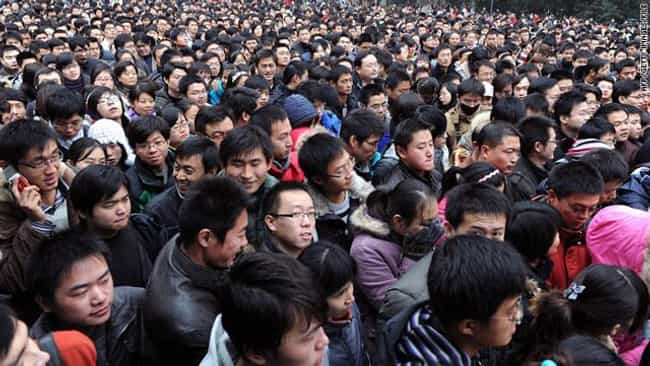 China's Population is listed (or ranked) 3 on the list 18 Random Useless Facts You Need To Know