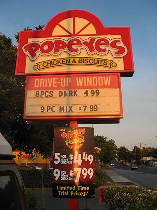 Popeyes Chicken is listed (or ranked) 3 on the list The Best Fast Food Places