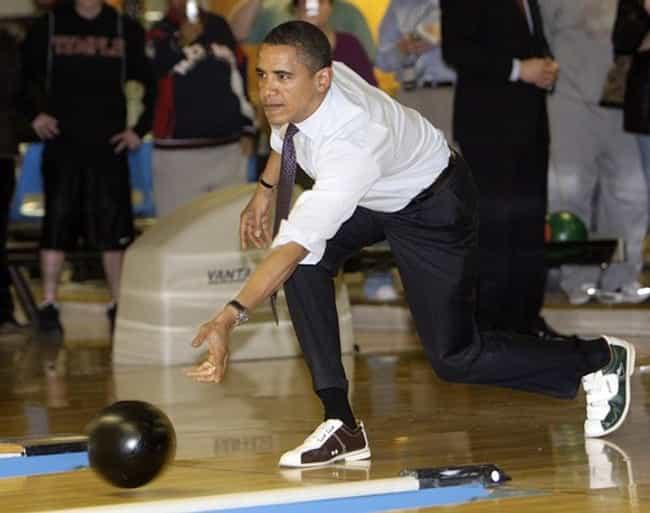 After bowling a 129 obama says... is listed (or ranked) 4 on the list Barack Obama-isms: The Biggest Obama Gaffes