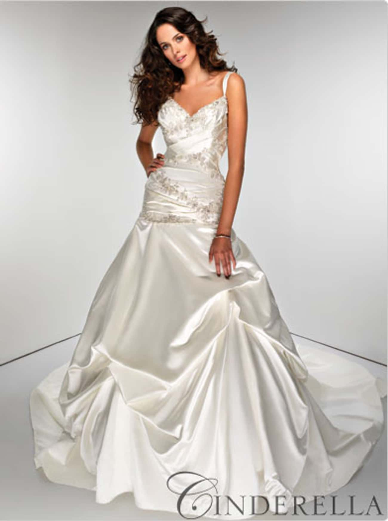 Cinderella is listed (or ranked) 3 on the list Disney Bridal Gowns: Have a Disney Princess Wedding