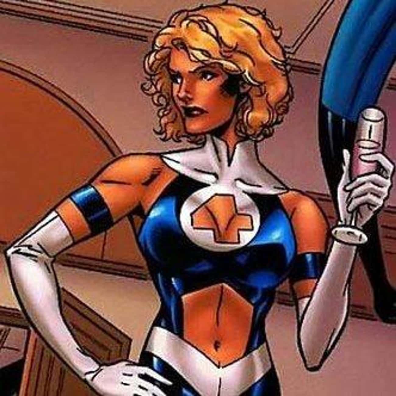 Cutout Wearing Invisible Woman is listed (or ranked) 3 on the list The 10 Lamest Superhero Costume Designs Ever