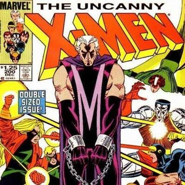 Good Guy Magneto is listed (or ranked) 4 on the list The 10 Lamest Superhero Costume Designs Ever
