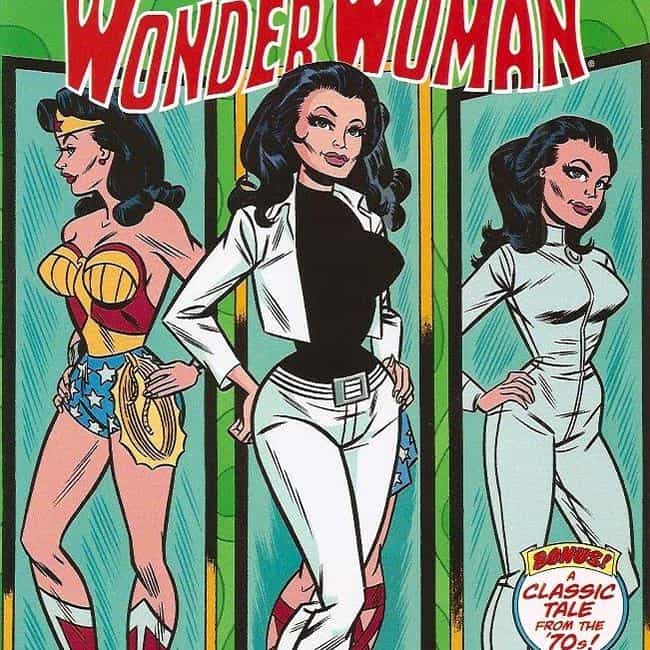Mod Wonder Woman is listed (or ranked) 1 on the list The 10 Lamest Superhero Costume Designs Ever