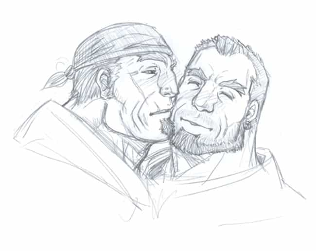 Marcus Fenix and Dom from Gear... is listed (or ranked) 3 on the list 7 Probably Gay Video Game Couples Who Should Get Married