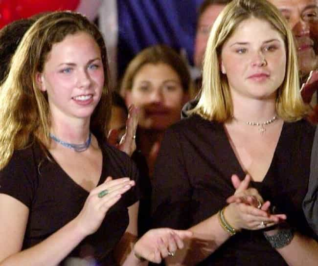 Jenna & Barbara Bush... is listed (or ranked) 3 on the list 16 Scandalous Daughters of Politicians