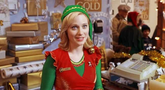 Zooey Deschanel - Elf is listed (or ranked) 1 on the list The Hottest Girls from Christmas Movies