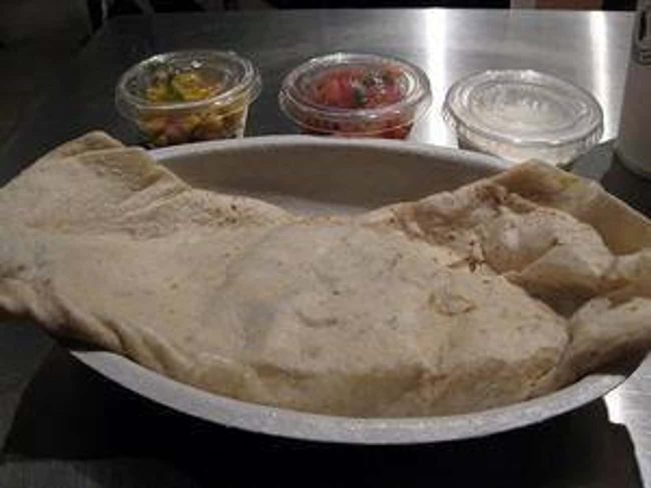 Quesadilla is listed (or ranked) 3 on the list Chipotle Secret Menu Items