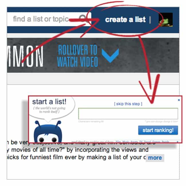 make a list of
