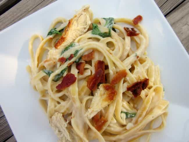 Chicken Fettuccine Florentine is listed (or ranked) 3 on the list Olive Garden Secret Menu Items