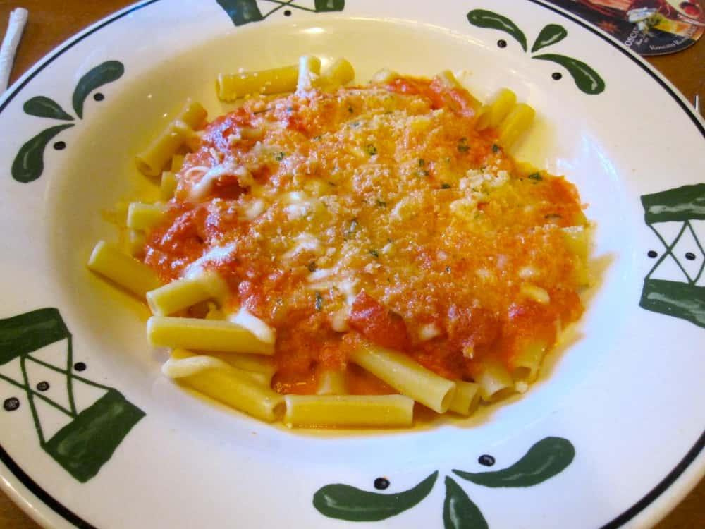 Vegetarian Menu Options is listed (or ranked) 5 on the list Olive Garden Secret Menu Items