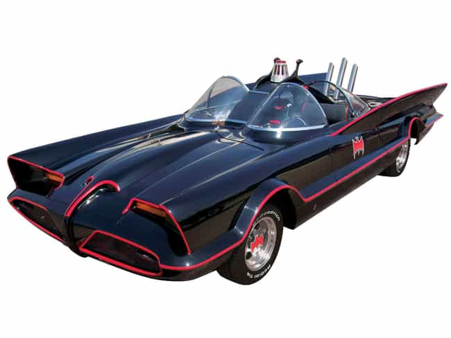 The Batmobile is listed (or ranked) 7 on the list The Coolest Fictional Cars