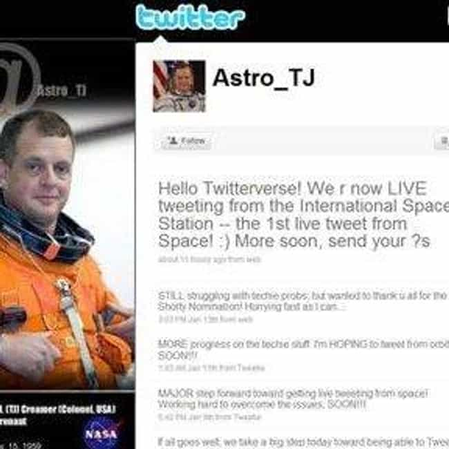 First Space Tweet is listed (or ranked) 2 on the list The Best Tweets of All Time