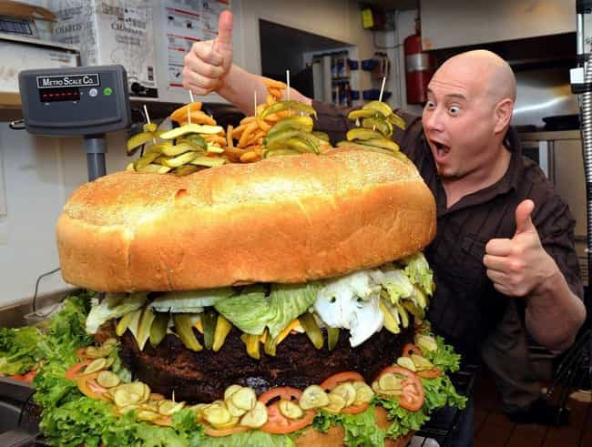 Biggest Hamburger is listed (or ranked) 1 on the list The Biggest Foods in the World