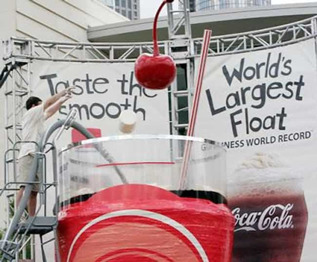 Biggest Ice Cream Float is listed (or ranked) 3 on the list The Biggest Foods in the World