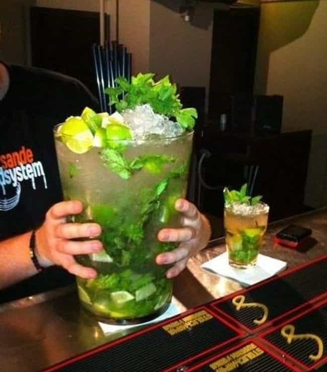 Biggest Mojito is listed (or ranked) 4 on the list The Biggest Foods in the World