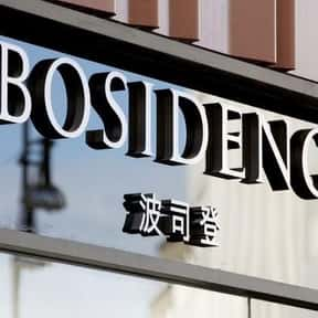 Bosideng is listed (or ranked) 3 on the list The Top Chinese Manufacturing Companies