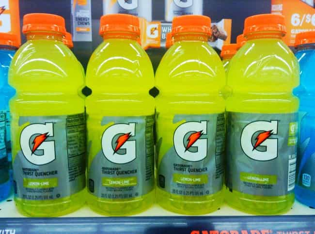 Gatorade is listed (or ranked) 4 on the list 15 Weird but True Stories Behind Unique American Products