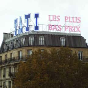 Tati is listed (or ranked) 6 on the list The Best French Department Stores