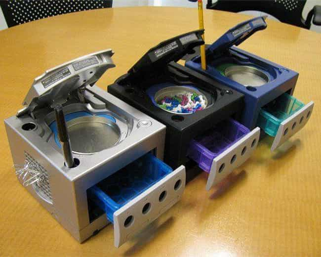 Nintendo System Desk Org... is listed (or ranked) 1 on the list The 10 Craziest Console Mods Not Used for Gaming