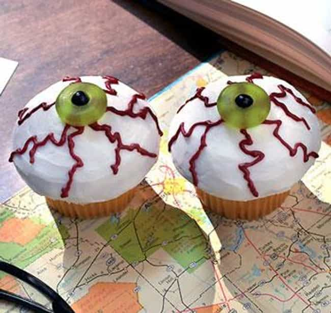 Eyeball Cupcakes is listed (or ranked) 3 on the list 13 Awesome Halloween Recipes