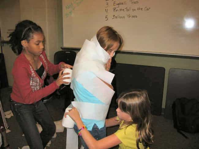 Mummy Wrap is listed (or ranked) 2 on the list Halloween Party Games