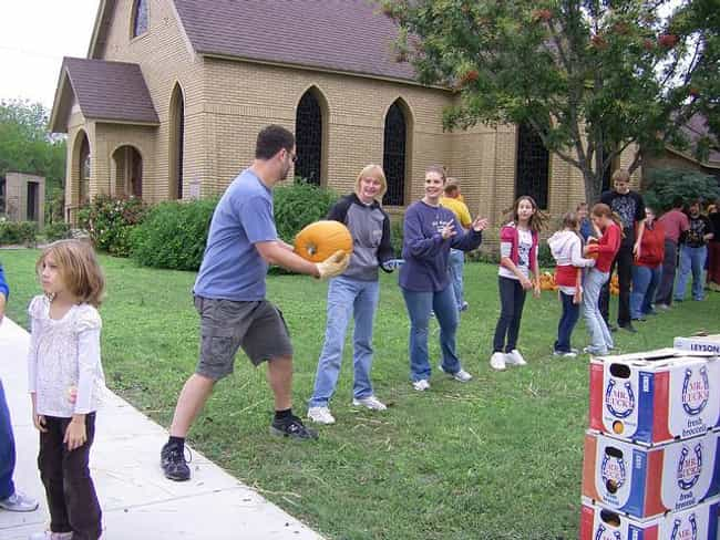 Pass the Pumpkin is listed (or ranked) 3 on the list Halloween Party Games