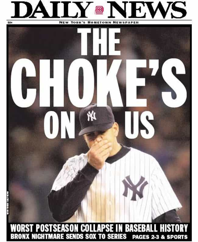 2004 New York Yankees is listed (or ranked) 1 on the list The Biggest Sports Team Collapses in History