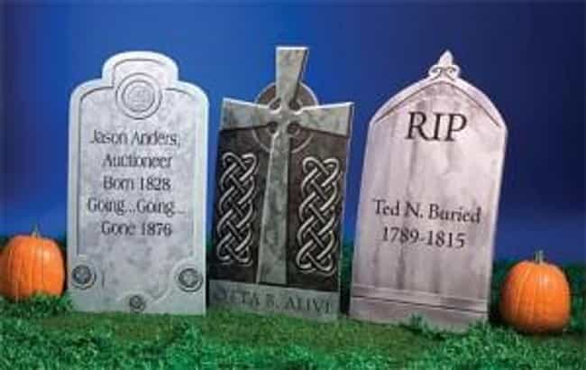 Halloween Tombstones is listed (or ranked) 3 on the list Halloween Decoration Ideas