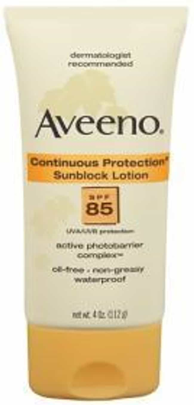 Aveeno Active Naturals Continu... is listed (or ranked) 2 on the list The Best Sunscreen