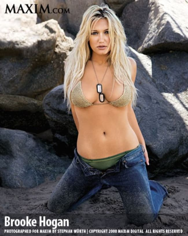 Brooke Hogan In Coral Crochet Is Listed Or Ranked 4 On