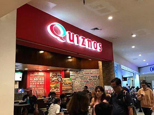 Quiznos Small Honey Bourbon Ch... is listed (or ranked) 4 on the list Low Calorie Fast Food