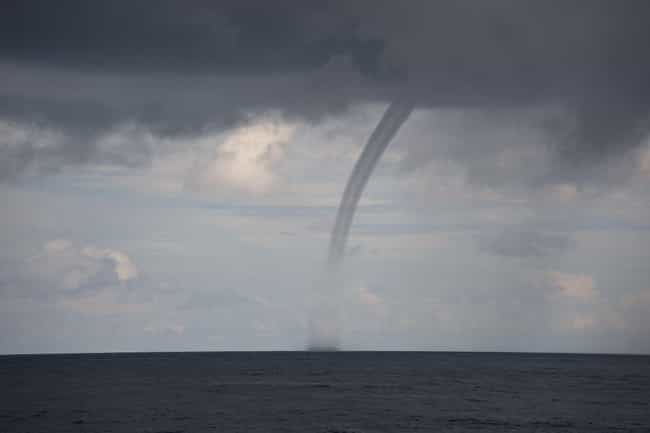 Water Spout is listed (or ranked) 2 on the list 10 Amazing & Rare Natural Phenomena