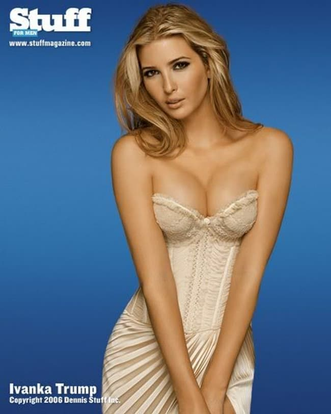 Ivanka Trump In Lace Pudded Corset