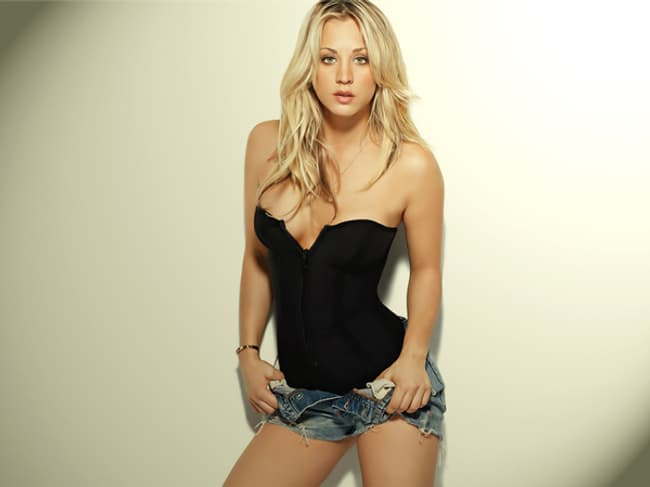 Kaley Cuoco Looks Serious