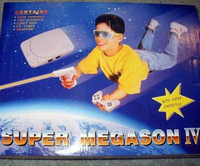 Super Megason IV is listed (or ranked) 6 on the list The Most Shameless Video Game Console Knockoffs