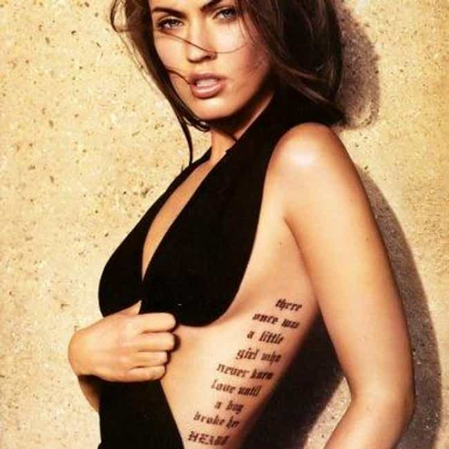Love is listed (or ranked) 1 on the list Hot Megan Fox Tattoos