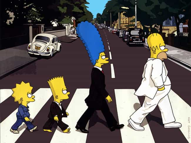 Abbey Simpsons Road is listed (or ranked) 1 on the list Beatles Parody Album Covers