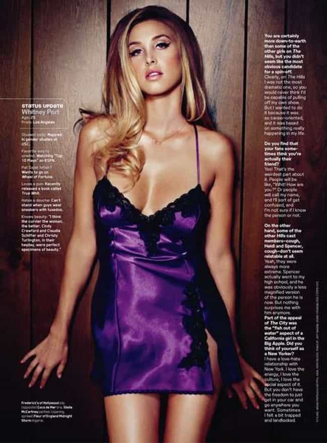 Whitney Port in Satin and Lace... is listed (or ranked) 2 on the list Hottest Whitney Port Photos