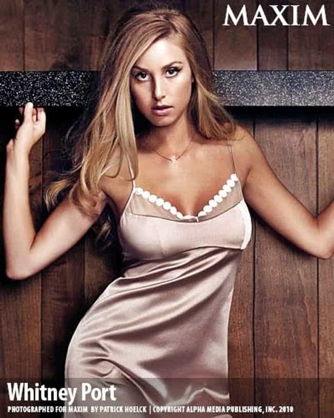 Whitney Port in Beige Satin Ni... is listed (or ranked) 3 on the list Hottest Whitney Port Photos