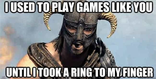 Marriage is listed (or ranked) 4 on the list The Very Best of the Skyrim 'Arrow in the Knee' Meme